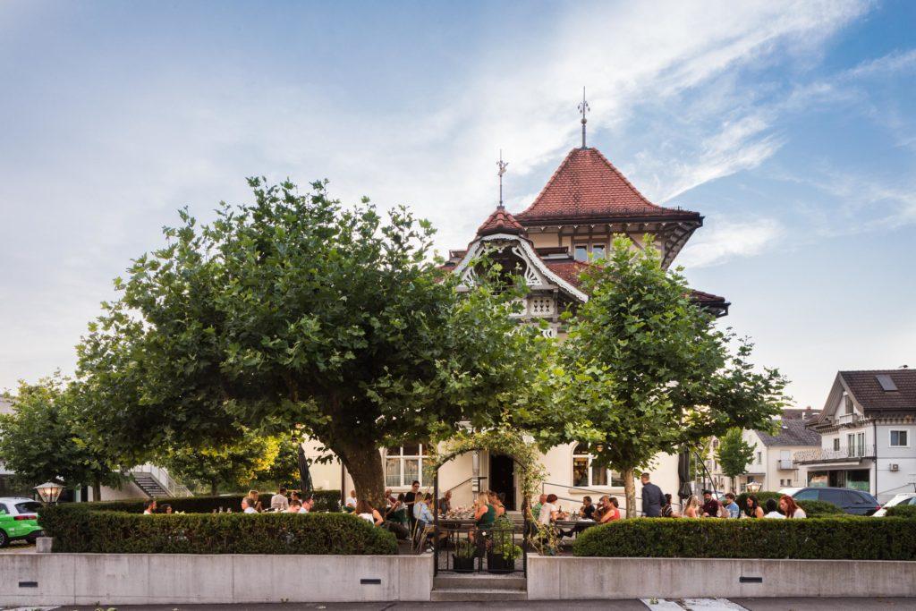 Gastgarten des Wirtshaus Hörnlingen, Rankweil
